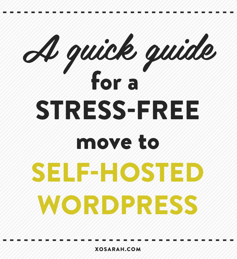 How to move to a self-hosted WordPress blog