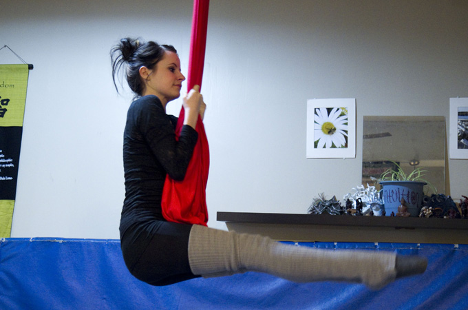 Exercises for an aerial body and flexibility