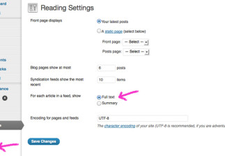 How to show full posts in an RSS reader