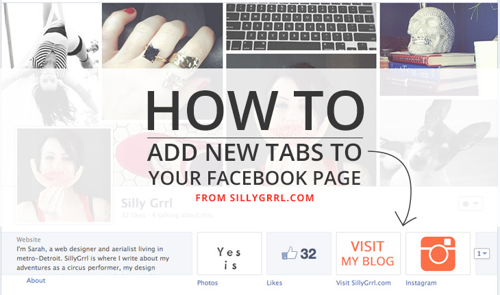 SillyGrrl.com // How to add new tabs to your facebook page