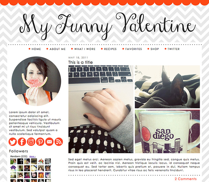 SillyGrrl.com // Premade Template for Blogger
