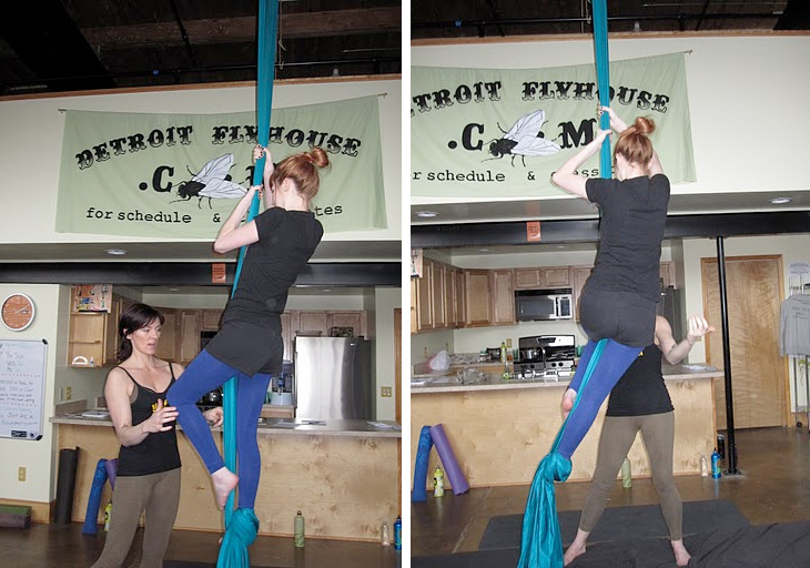 SillyGrrl.com // Tips for climbing aerial silks