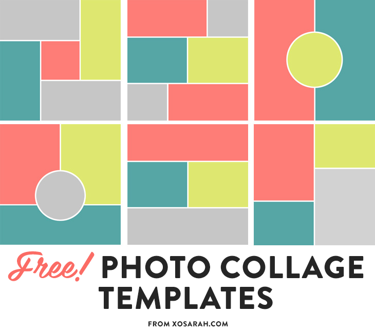 free photoshop photo collage templates for bloggers from xosarahcom - Free Collage Templates