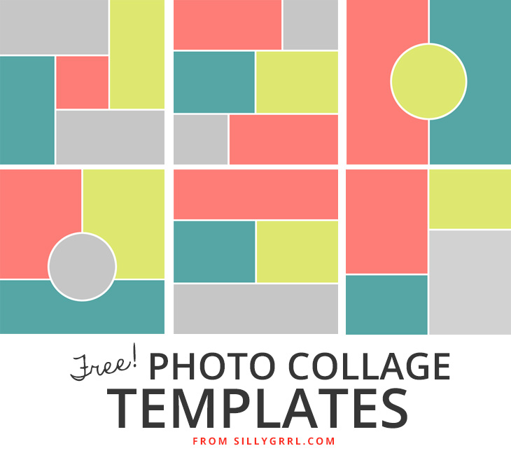 SillyGrrl.com // Six free photo collage templates