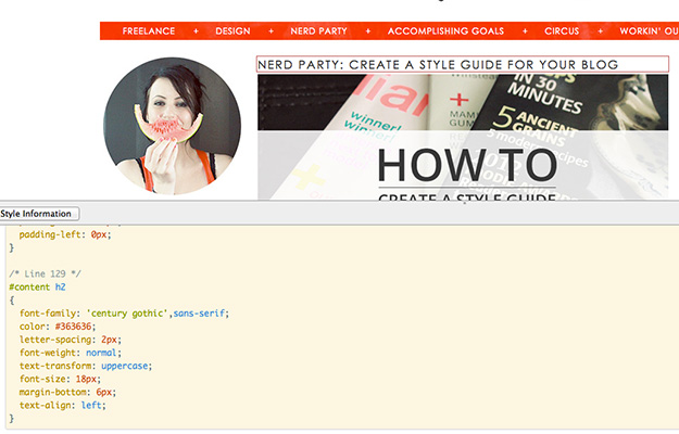 SillyGrrl.com // How to use the web developer tool