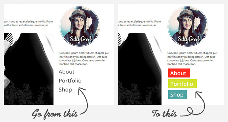 SillyGrrl.com // Make your links pop with CSS boxes