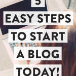 Five simple steps to get started blogging TODAY!