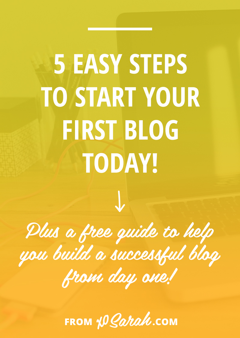 Starting a blog doesn't have to be complicated and confusing - here are the 5 steps to get you started TODAY! Plus a bunch of free worksheets so you don't forget any of the important stuff.