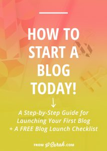 How to start a blog TODAY!