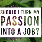 Should I turn my passion into a job?