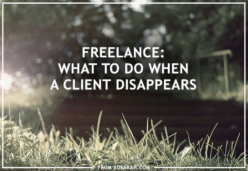 What to do when a client disappears