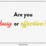 Are you busy or effective? Find out with this free worksheet!