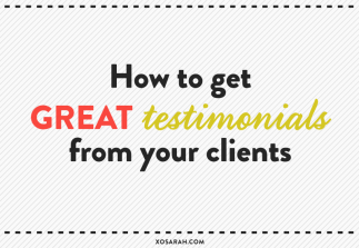 How to get great testimonials from your clients