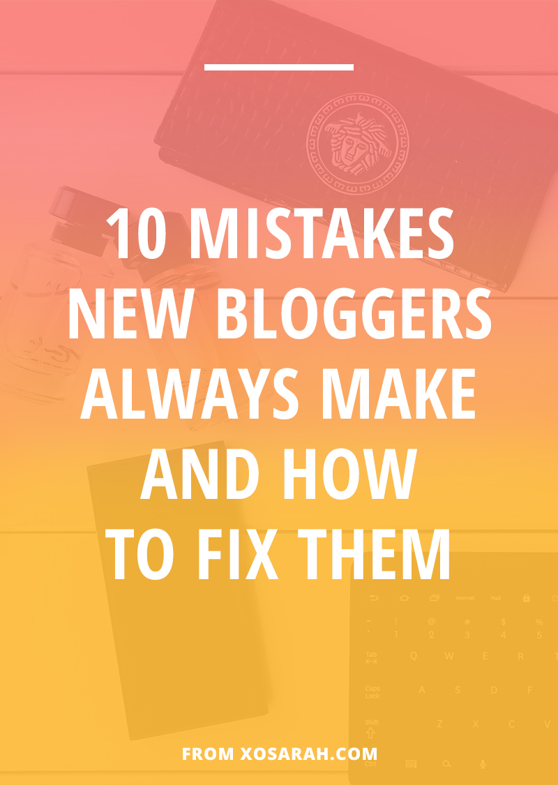 Attention beginner blogger: If you're making any of these 10 blogging mistakes you could be giving up growing your traffic and social media following before you even get going. Click to find out what they are and fix them ASAP!