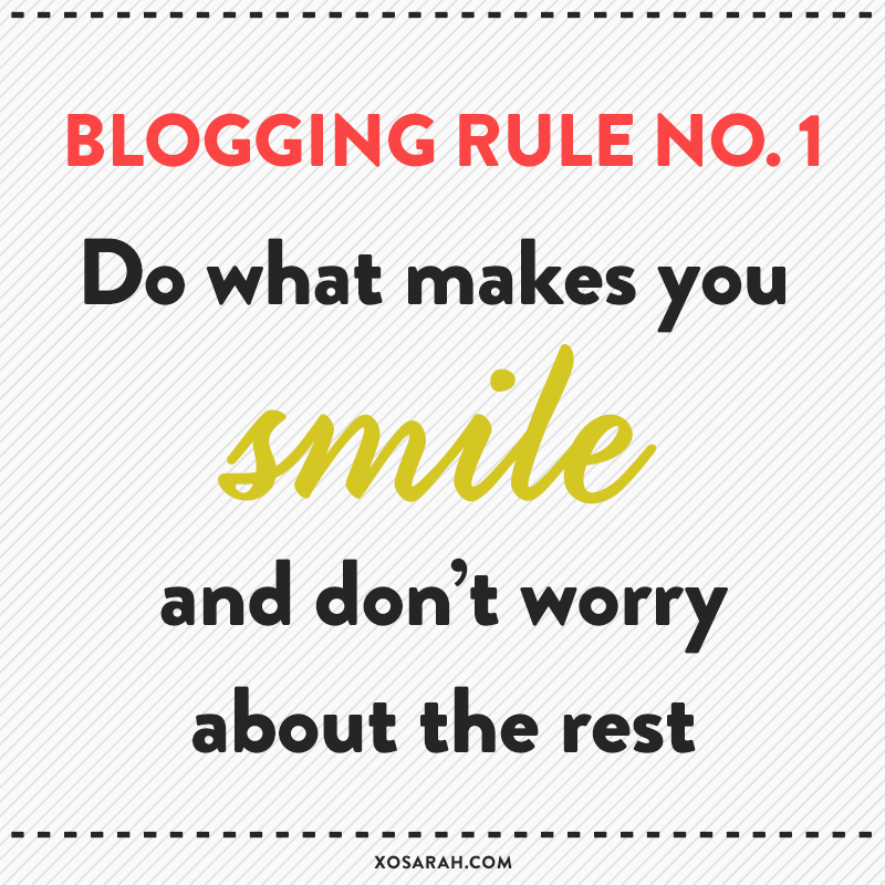 Follow your blogging bliss: Do what feels good and don't worry about the rest