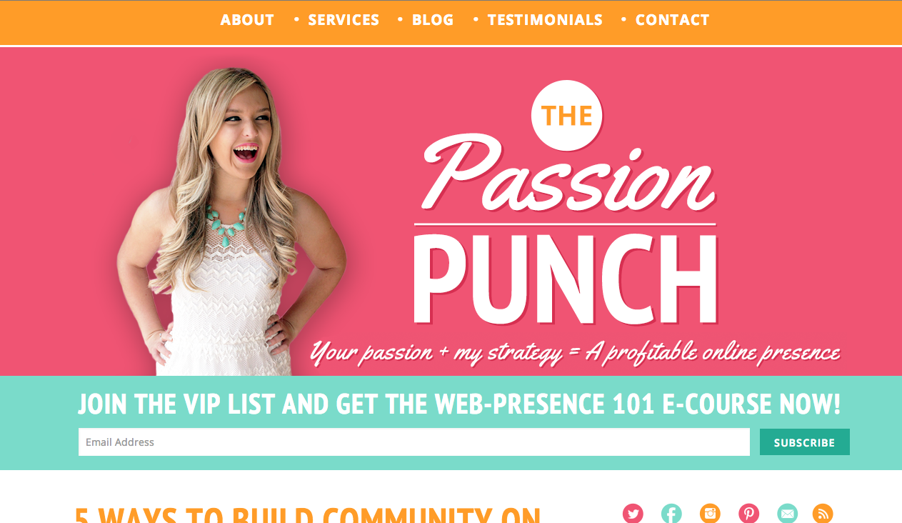The Passion Punch / Design by XOSarah.com