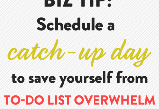 Why you need a weekly catch-up day