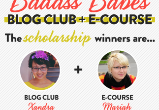 The Badass Babes scholarship winners are…