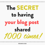 The best way to guarantee your blog post gets shared a ton!