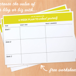 Increase the value of your biz or blog with the 6-Week School Yourself worksheets from XOSarah.com