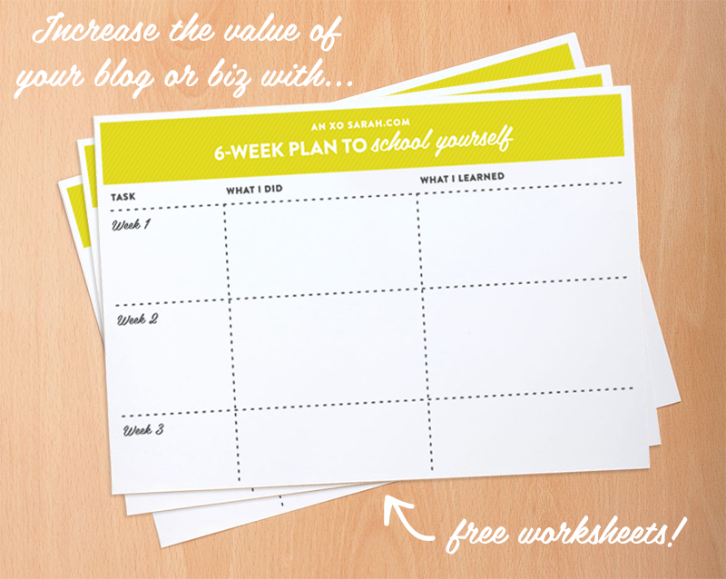 Make you and your biz more valuable with this 6-week plan