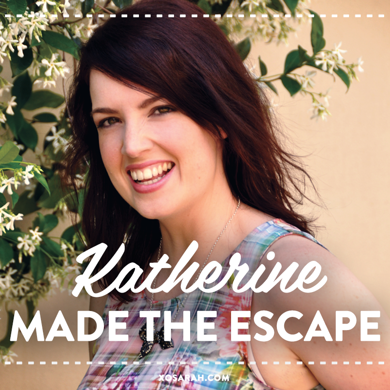 Katherine shares her journey from television producer to creating her own coaching business on XOSarah.com