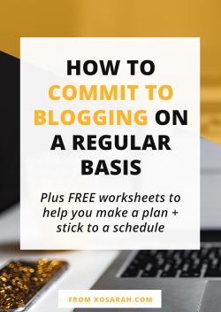 How to commit to blogging on a regular basis
