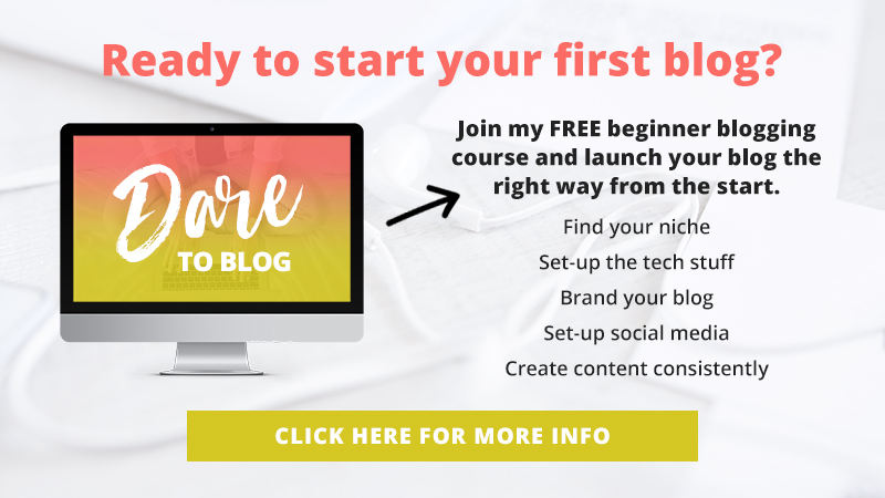 Dare to Blog: Your FREE guide to start a blog the right way from the start.