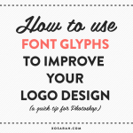 How to use font glyphs to improve your logo design (a quick tip for Photoshop) from XOSarah.com