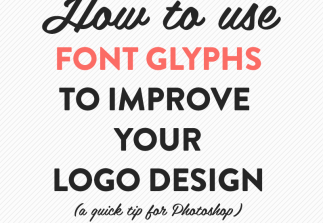 How to use font glyphs + a recent design
