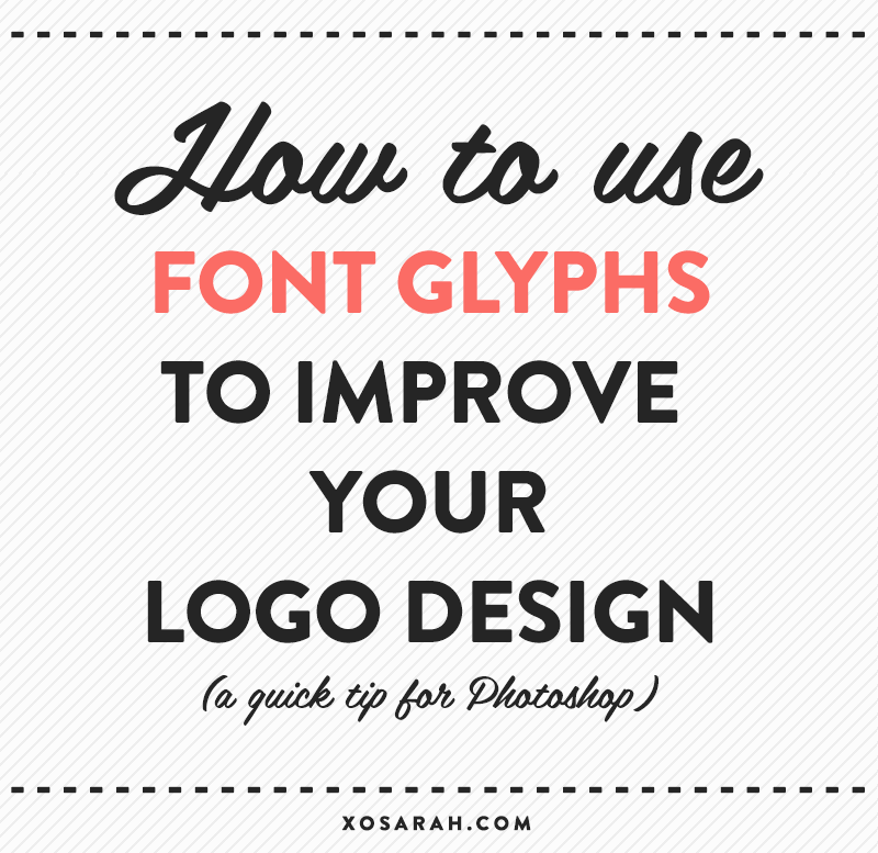 how to use font glyphs a recent design xo sarah bloglovin