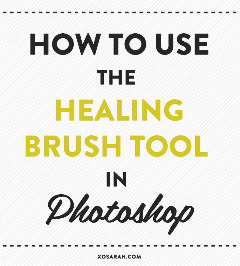 Photoshop: How to use the healing brush tool