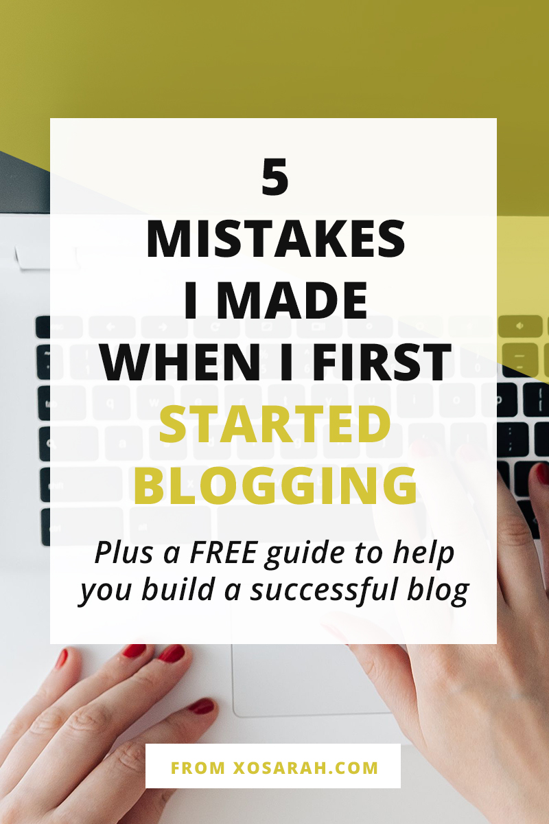 20 years, one freelance business, over 1.5 million pageviews, and almost 9,000 comments later I have finally got it figured out, so here are five of my beginner blogging mistakes to help you get straight to growing your blog like a pro!
