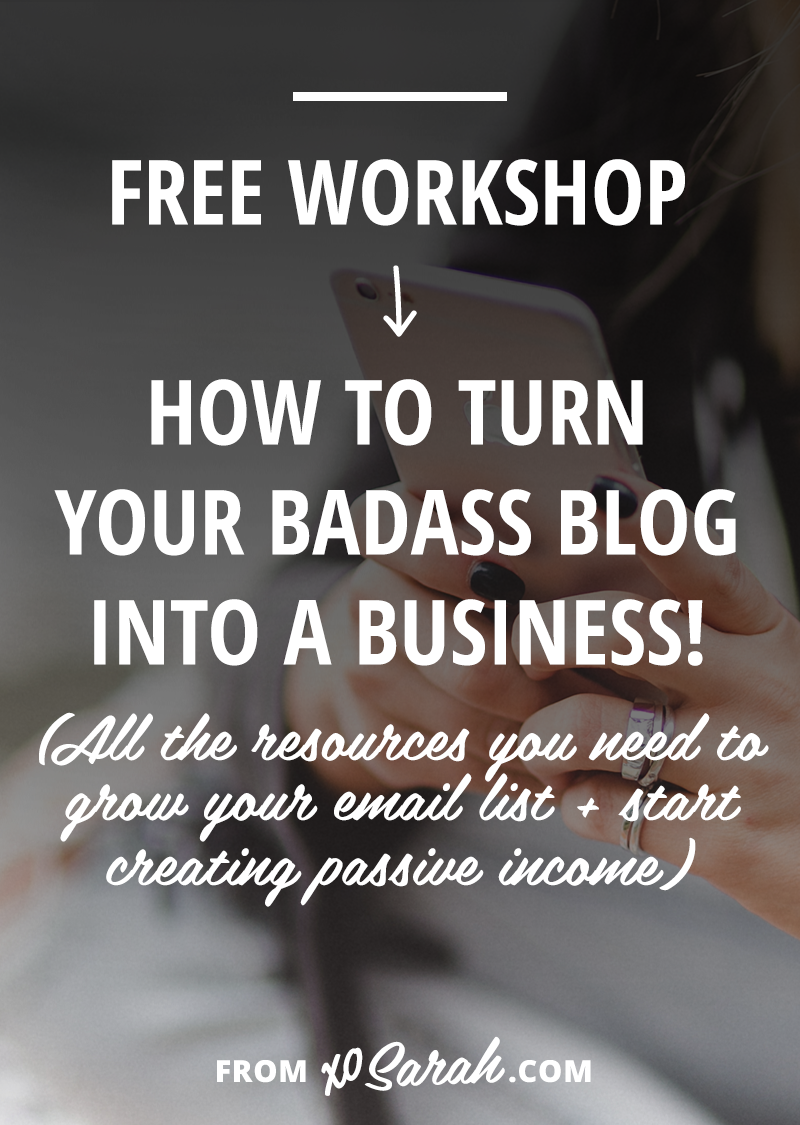 FREE Workshop: Learn how to turn your blog into a business