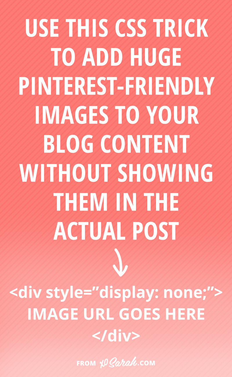 Use this trick to add secret images to your posts just for Pinterest!