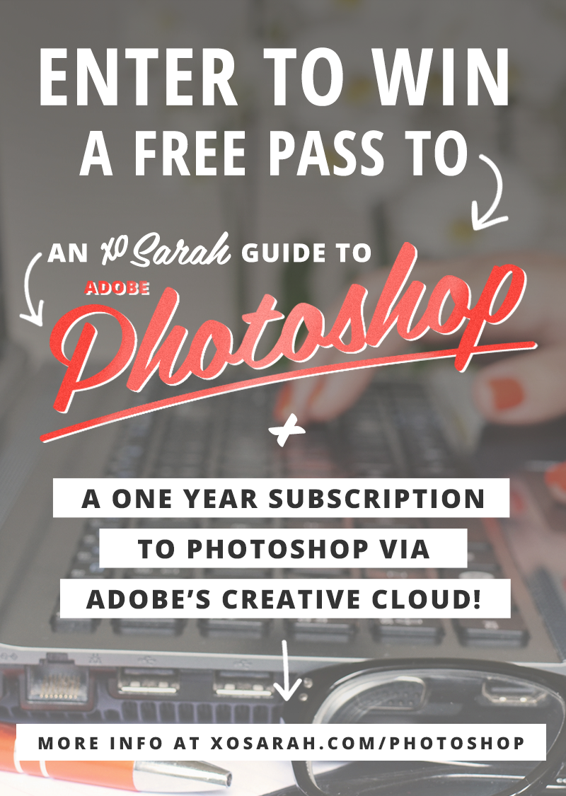 Win a FREE pass to my Photoshop course + 1 year of Adobe Photoshop!