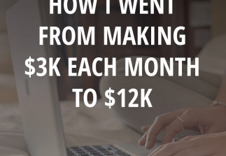 Income Report: How I went from making $3k/month to $12k