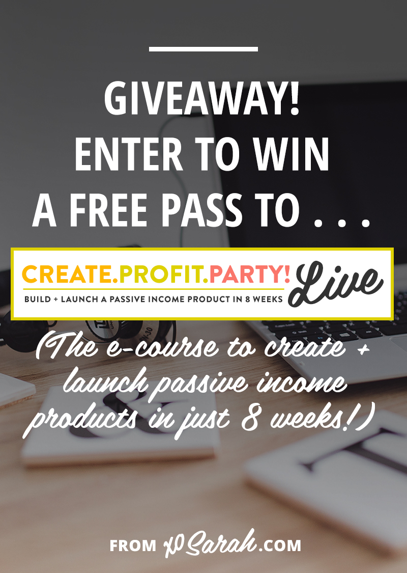 Enter to win a FREE pass to Create. Profit. Party! LIVE