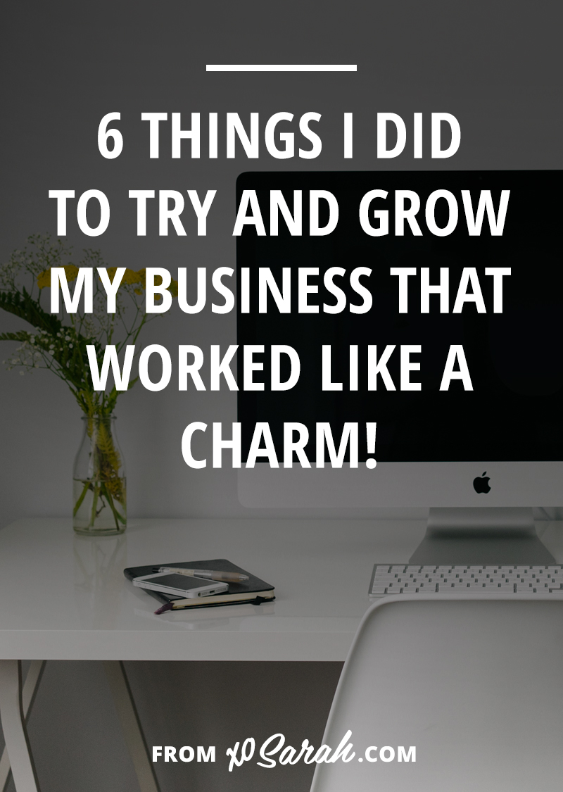 Two weeks ago I shared a few of my utter business fails, so this week I thought I'd flip the script and talk about the things I did to build my business that actually worked!