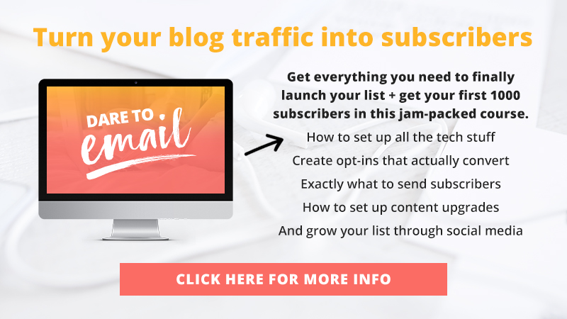 Dare to Email: Learn to launch and grow your email list in just 90 days!