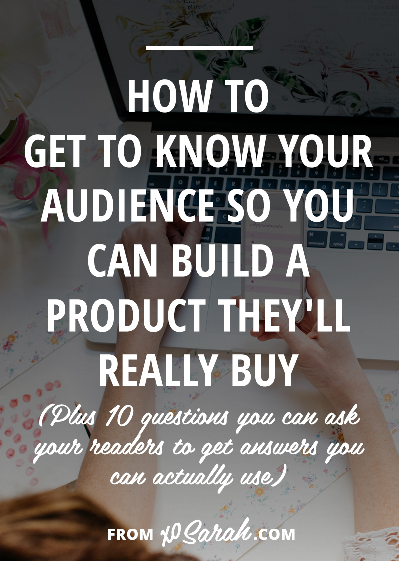 How do you get from building your audience to creating something they will actually buy? Because no one wants to spend all that time creating, marketing, and launching a product to only make a handful of sales. Instead of guessing what would be profitable, wouldn't it be easier to spend time with your people, get to know them, and understand what they're working toward? Click through for 6 ways to accomplish this!