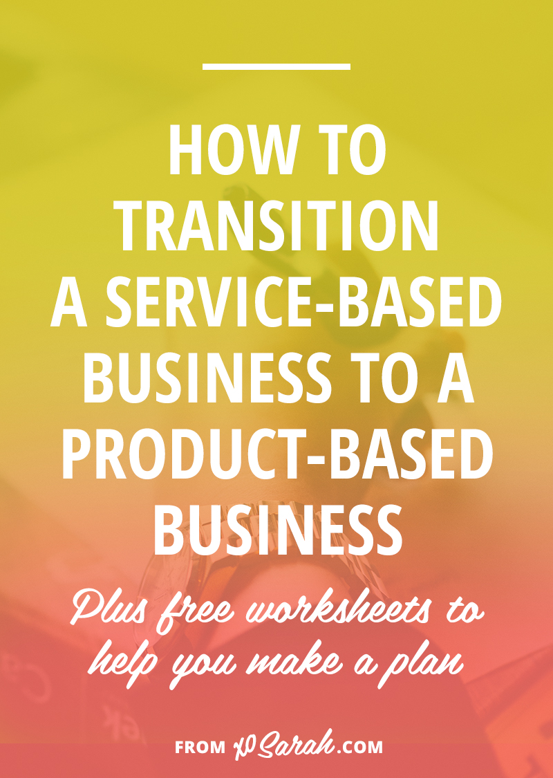 If you're ready to move away from working one-on-one with clients and are hoping to create products so you can help lots of people at once, this post is for you! Here's how to make the transition from a service-based business to a product-based business.