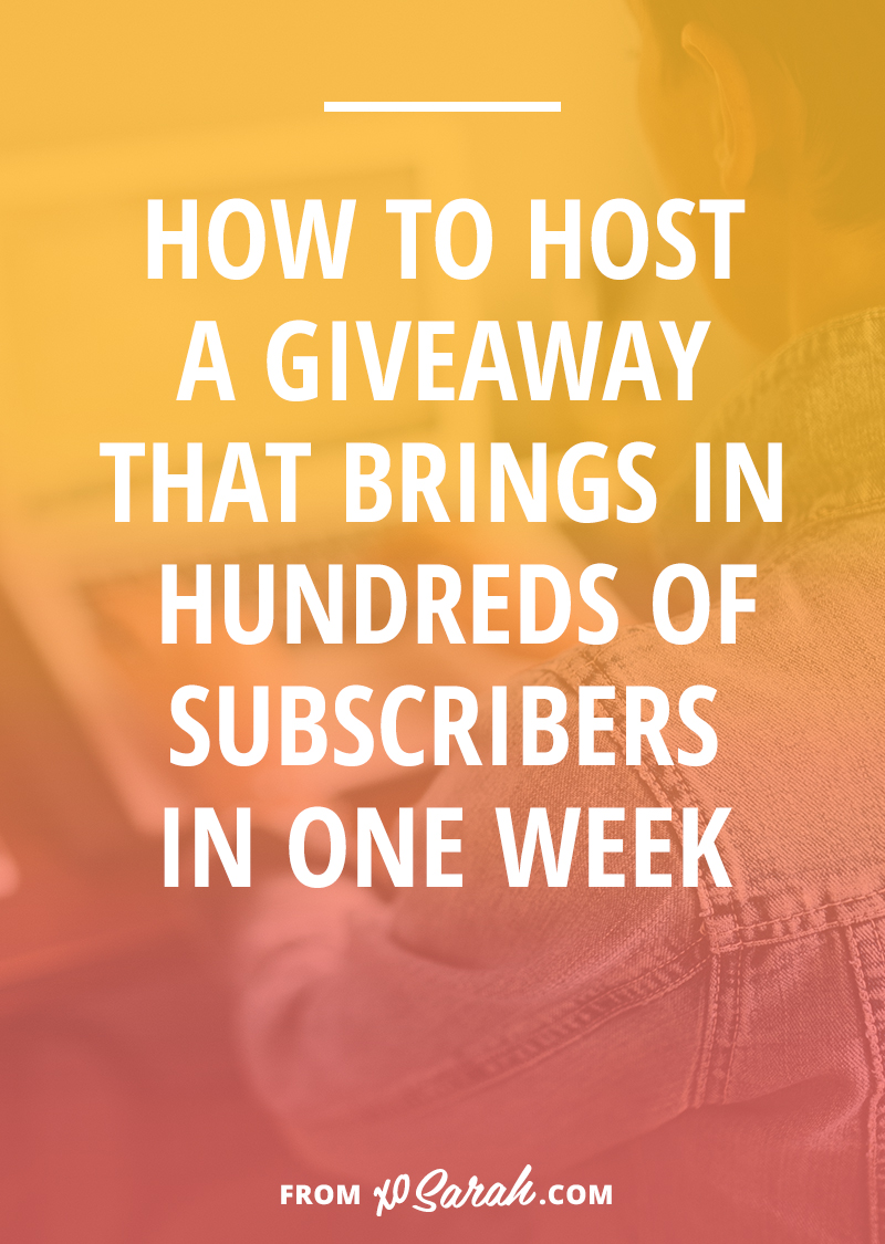 How to host a giveaway that brings in hundreds of email subscribers in one week