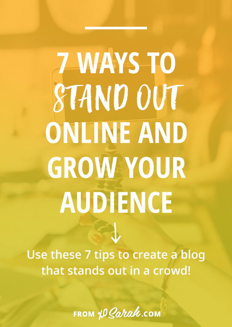 What if there are already tons of people blogging about what you want to blog about? If you've found yourself trying to make your mark as a little fish in a big blogging pond you best have/think up/create something that helps you stand out from the crowd. Click for 7 ideas to get you going!