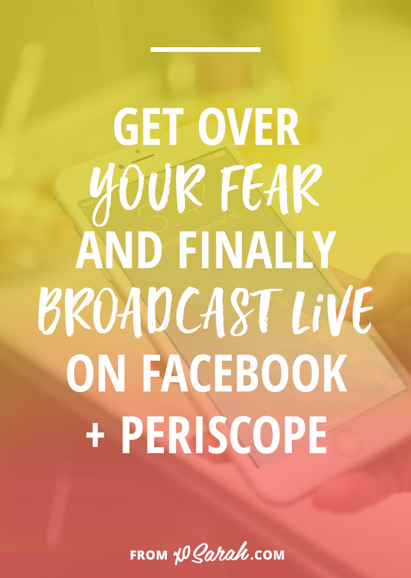 How to get over the fear of broadcasting live