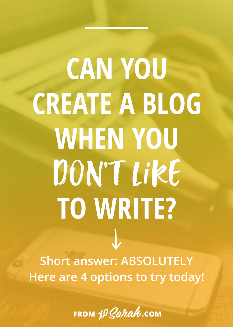 How to blog when you dislike writing
