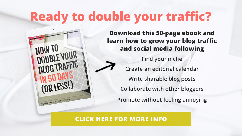 Download this 50-page ebook and learn how to double your blog traffic and social media following in just 90 days!