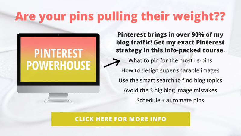 Pinterest brings in over 90% of my blog traffic - how much traffic are you missing out on? Learn what to pin for the most re-pins, how to design super-sharable images and avoid the 3 big blog image mistakes