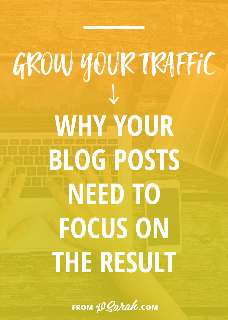 Are you making this big blogging mistake?? No matter what your niche you're likely not the only person writing about your topic, which means you need to nail down the exact outcome readers can expect when clicking on your post. Click through to find out how!