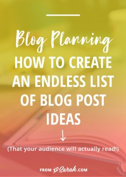How to continuously generate new blog post ideas